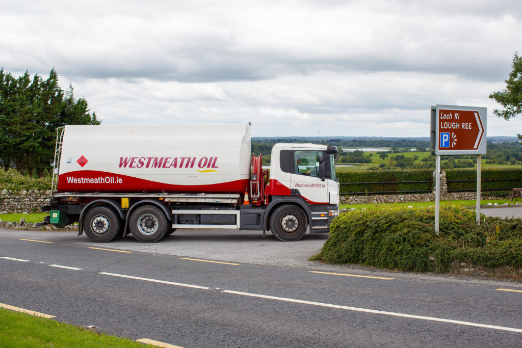 Westmeath Oil Truck with Lough Ree in the background