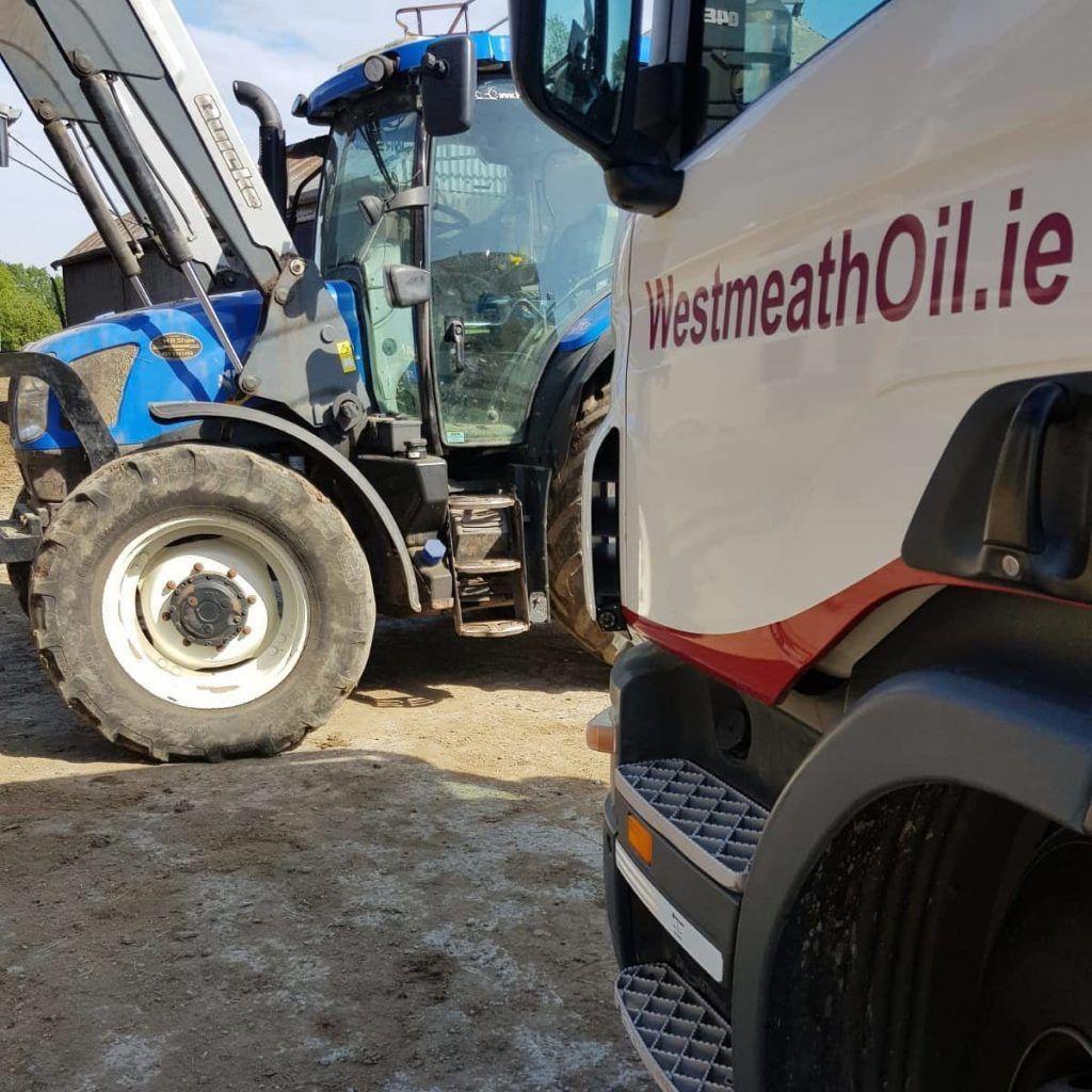 Westmeath Oil truck delivering agri diesel